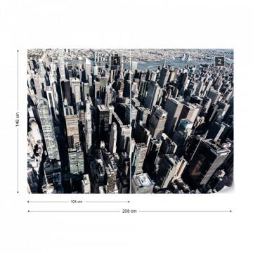 Fototapet - Jungla Urbană – Tonuri Reci