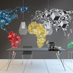 Fototapet - Map of the World - colorful solids