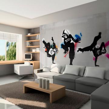 Fototapet - Monkey dance - street art