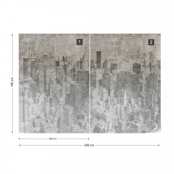 Fototapet - New York City – Efect Grafic Alb-Negru