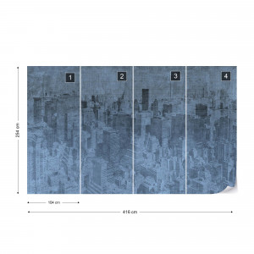 Fototapet - New York City – Efect Grafic Albastru