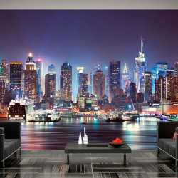 Fototapet - Night in New York City