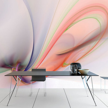 Fototapet - Silky colorful smoke
