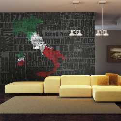 Fototapet - Text map of Italy