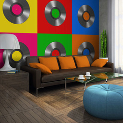 Fototapet - Vinyl record (pop art)