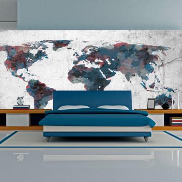 Fototapet XXL - World map on the wall