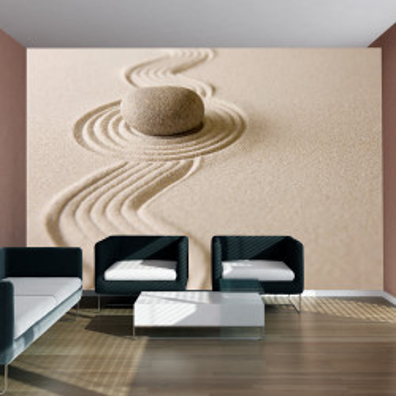 Fototapet - Zen sand garden