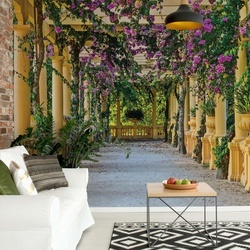 Garden View Photo Wallpaper Wall Mural