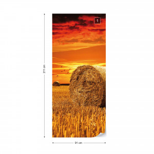 Gold Countryside Field Nature Photo Wallpaper Wall Mural