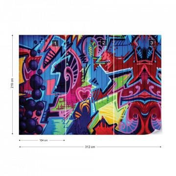 Graffiti Street Art Urban Grunge Photo Wallpaper Wall Mural