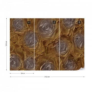 Grey Roses Abstract Texture Photo Wallpaper Wall Mural