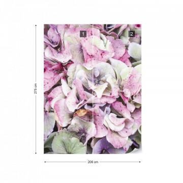 Hydrangea Flowers Photo Wallpaper Wall Mural