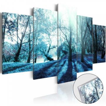 Imagine pe sticlă acrilică - Blue Glade [Glass]