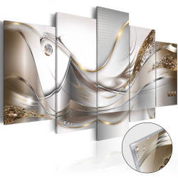 Imagine pe sticlă acrilică - Golden Flight [Glass]
