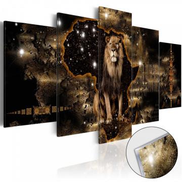 Imagine pe sticlă acrilică - Golden Lion [Glass]