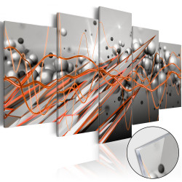 Imagine pe sticlă acrilică - Orange Stream