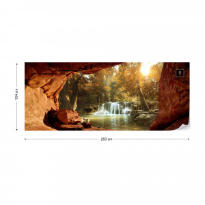 Lake Forest Waterfall Cave Photo Wallpaper Wall Mural