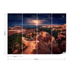 Lightning Over Bryce Canyon Photo Wallpaper Mural