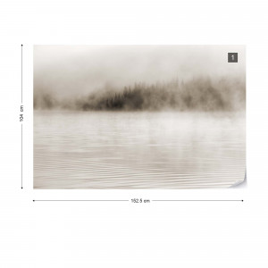Mist on the Water in Sepia