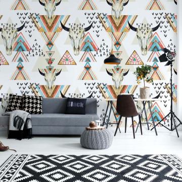 Modern Boho Chic Pattern Photo Wallpaper Wall Mural