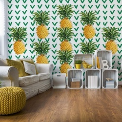 Modern Tropical Pineapples Photo Wallpaper Wall Mural