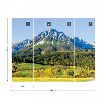 Mountains Photo Wallpaper Wall Mural