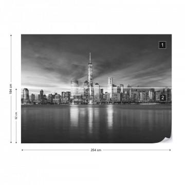 New York City Sunrise in Black & White