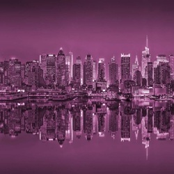 New York Reflections in Pink