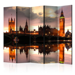 Paravan - Big Ben in the evening, London II [Room Dividers]