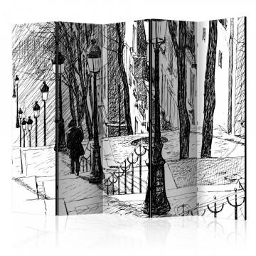 Paravan - stairs - Montmartre II [Room Dividers]