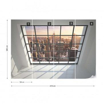 Penthouse Window New York View