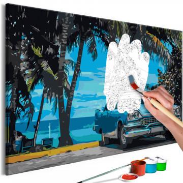 Pictatul pentru recreere - Car under Palm Trees