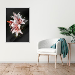 Poster - Pale Pink Lilies