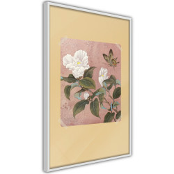 Poster - Rhododendron and Butterfly