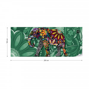 Pyschedelic Elephant Photo Wallpaper Wall Mural