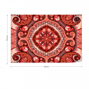 Red Pattern Photo Wallpaper Wall Mural