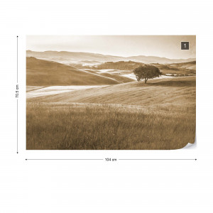 Rolling Hills Faded Vintage in Sepia