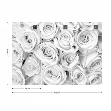 Rose Bouquet Black & White