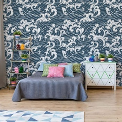 Swirling Sea Pattern Photo Wallpaper Wall Mural
