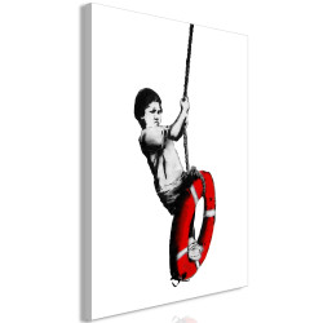 Tablou - Banksy: Boy on Rope (1 Part) Vertical