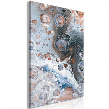 Tablou - Blue Sienna Marble (1 Part) Vertical