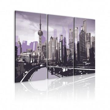 Tablou - Bright violet Shanghai