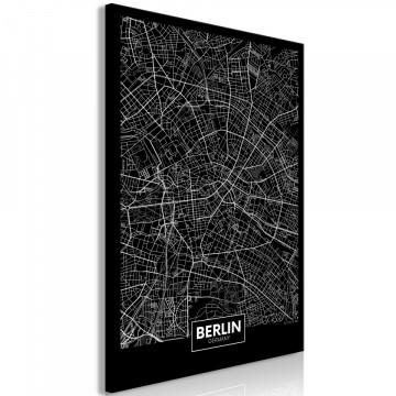 Tablou - Dark Map of Berlin (1 Part) Vertical