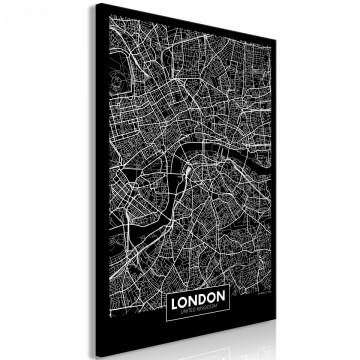 Tablou - Dark Map of London (1 Part) Vertical