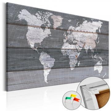 Tablou din plută - Grey Earth [Cork Map]