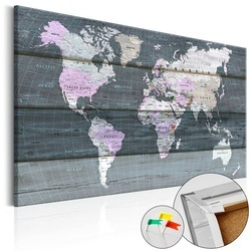 Tablou din plută - Journey through the World [Cork Map]