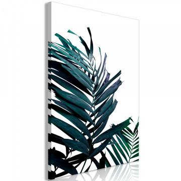 Tablou - Emerald Leaves (1 Part) Wide