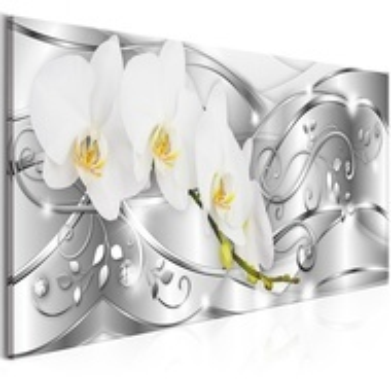 Tablou - Flowering (1 Part) Narrow Silver