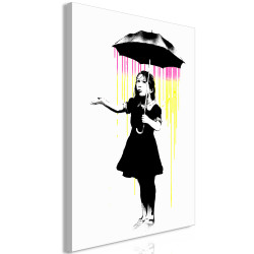 Tablou - Girl with Umbrella (1 Part) Vertical