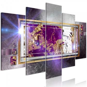 Tablou - Golden Reflection (5 Parts) Wide